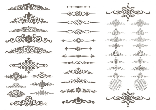 Calligraphic and ornament design