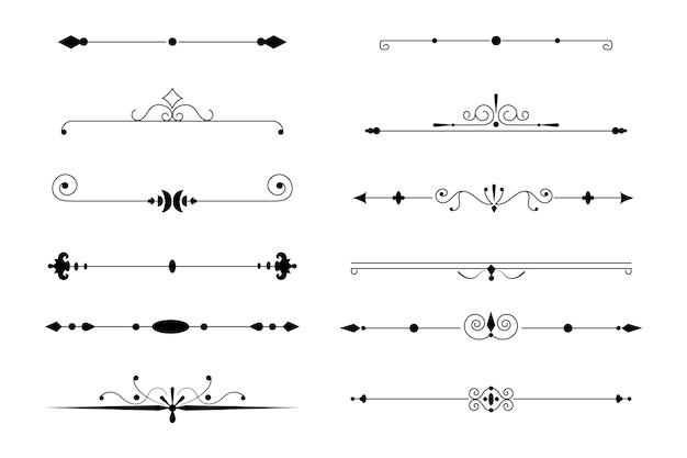 Коллекция каллиграфических декоративных разделителей