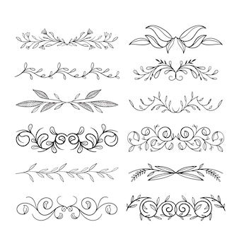 Calligraphic ornamental divider pack