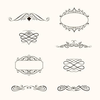 Коллекция каллиграфических декоративных элементов