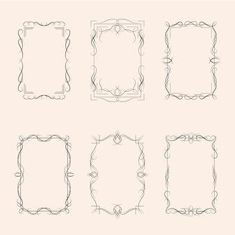 Calligraphic ornamental frame collection