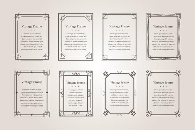 Коллекция каллиграфических декоративных рамок