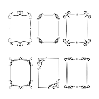 Calligraphic ornamental frame