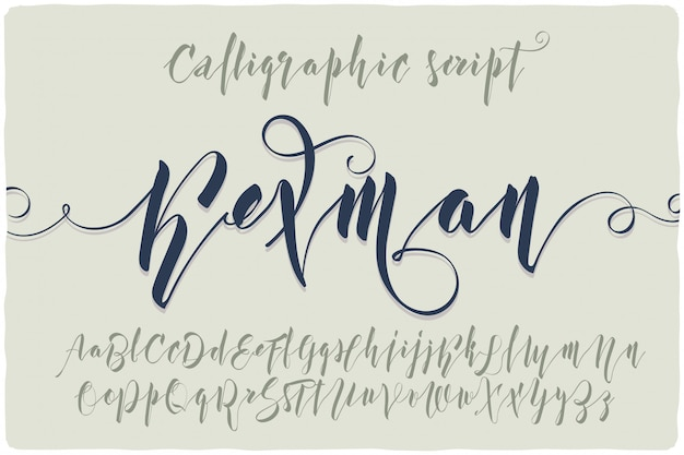 Набор шрифтов каллиграфического скрипта