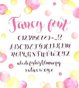 Calligraphic script letters