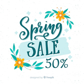 Calligraphic spring sale background