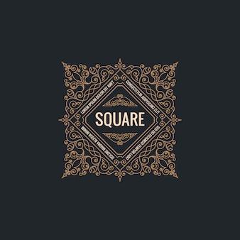 Calligraphic square frame