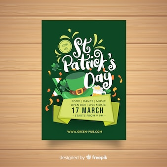 Calligraphic st patrick's party poster