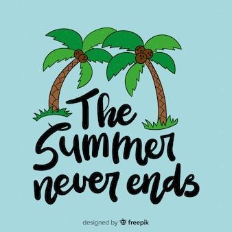 Calligraphic summer background