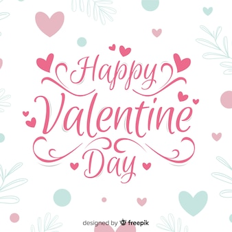 Calligraphic valentine background