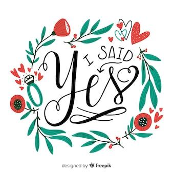 Calligraphic wedding background