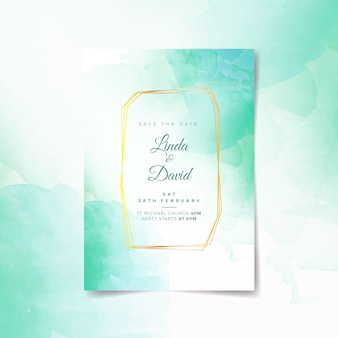 Calligraphic wedding invitation