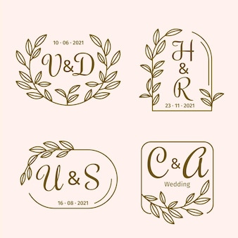 Calligraphicwedding monogram logos
