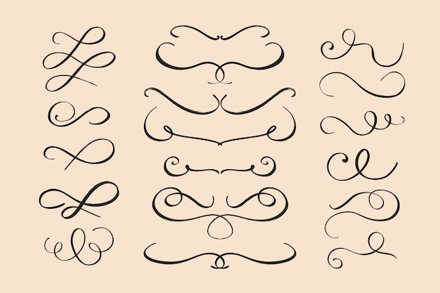 Calligraphic wedding ornament collection