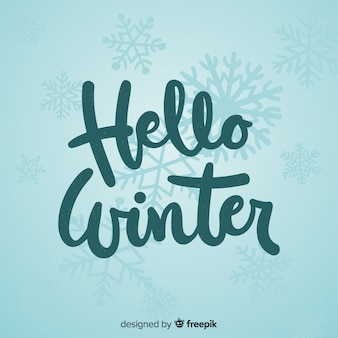 Calligraphic winter background
