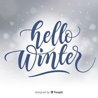 Calligraphic winter background
