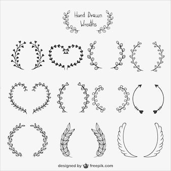 Calligraphic wreaths pack