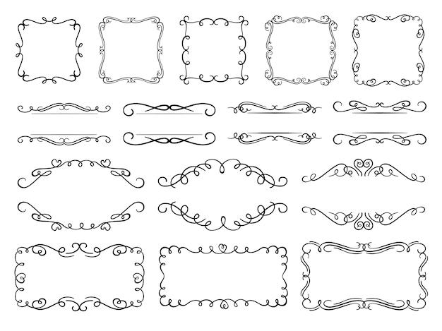 Calligraphy flourish frames