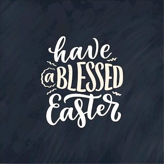 Calligraphy lettering slogan about easter