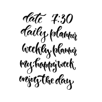 Calligraphy phrase for planners