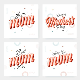Calligraphy of super mom, best mom ever
