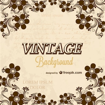 Calligraphy vintage background