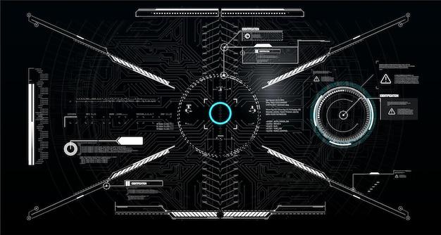 공상 과학 스타일의 콜 아웃 제목 및 프레임. 바 레이블, 정보 호출 상자 바. 미래의 정보 상자 레이아웃 템플릿.