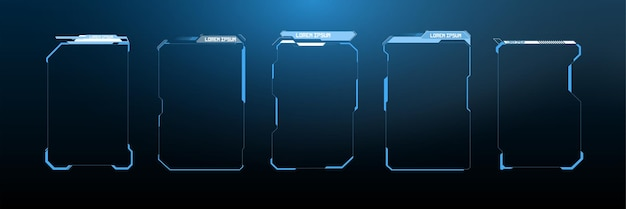 Заголовки выноски. ярлыки полос выноски, полосы информационных окон и современные шаблоны макетов цифровых информационных окон. названия цифровых выноски hud, ui, набор элементов экрана футуристического пользовательского интерфейса gui.