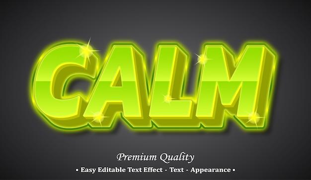 차분한 글꼴 스타일 효과