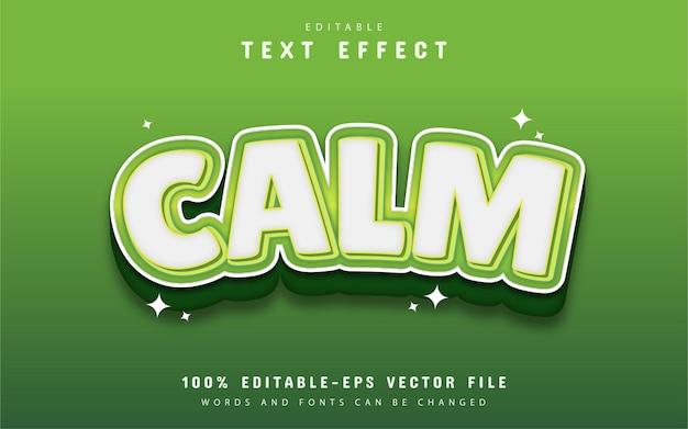 Calm text effect