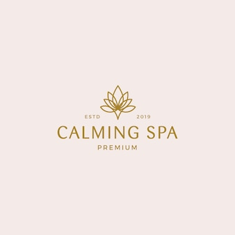Calming spa logo template
