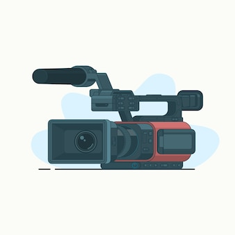Camcorder or video line icon isolated on white background