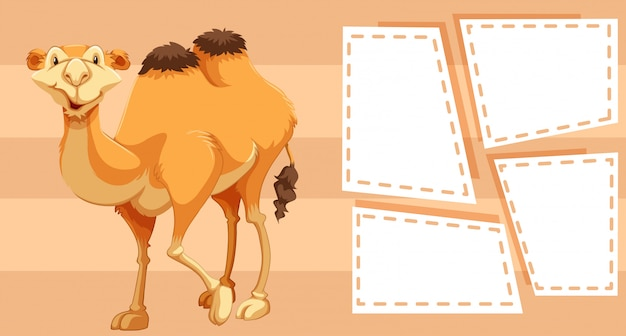 Camel on border frame
