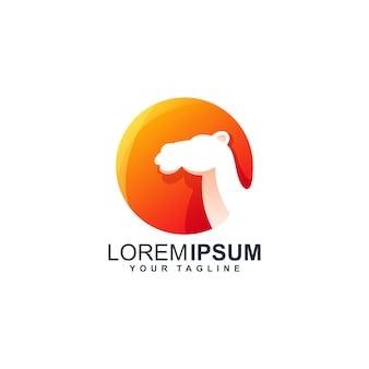Верблюжий логотип дизайн шаблона