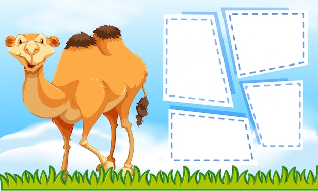 Camel on note background