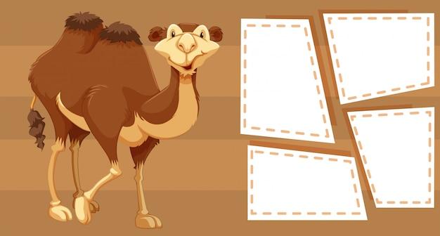 Верблюд на фоне заметок
