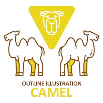 Camel outline style.