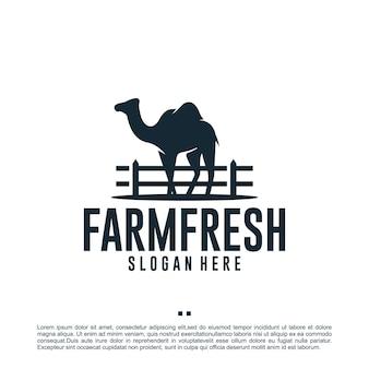 Верблюд, сахара, арабский, шаблон дизайна логотипа