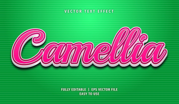 Camellia editable text effect style