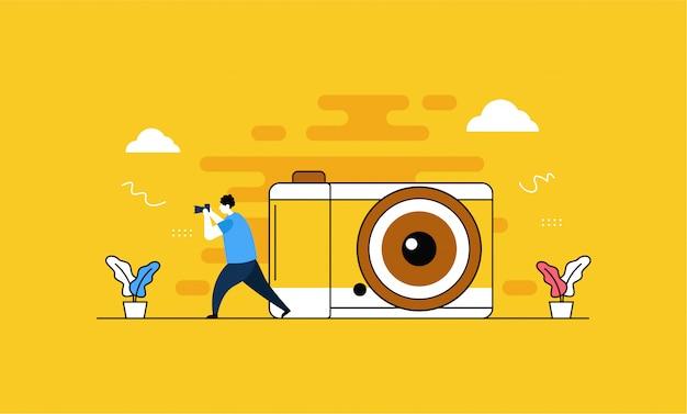 カメラと写真のランディングページ
