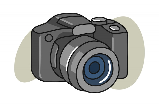 Camera cartoon illustration