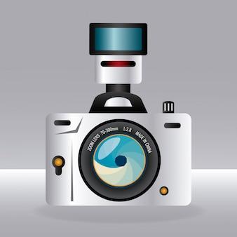 Camera design over gray background vector illustration