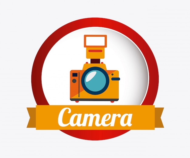 Camera design over white background vector illustration