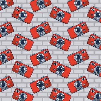 Camera doodle pattern