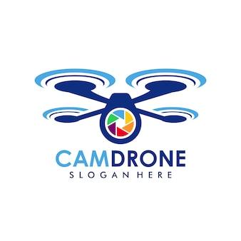 Camera drone logo template