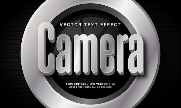Camera editable text effect with photography theme