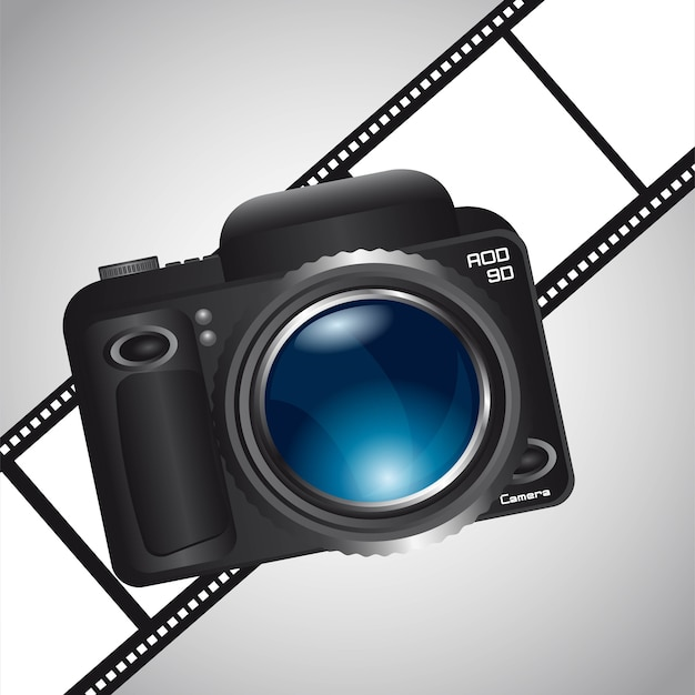Camera over film stripe