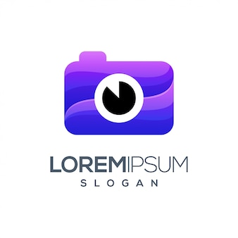 Camera gradient color logo