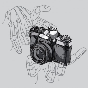 Camera hand