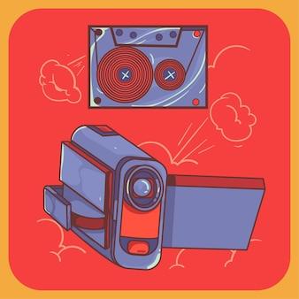 Camera handycam cute illustration